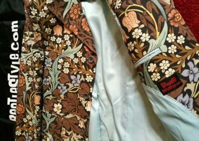 William Morris 'Blackthorn' fabric w/pale blue lining