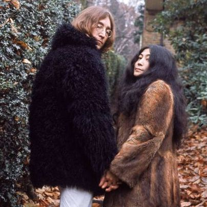 Lennon in Black Fur Coat