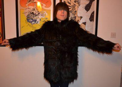 Peter Feely Black Faux Fur Coat