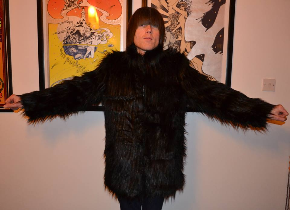 Peter Feely Black Faux Fur Coat