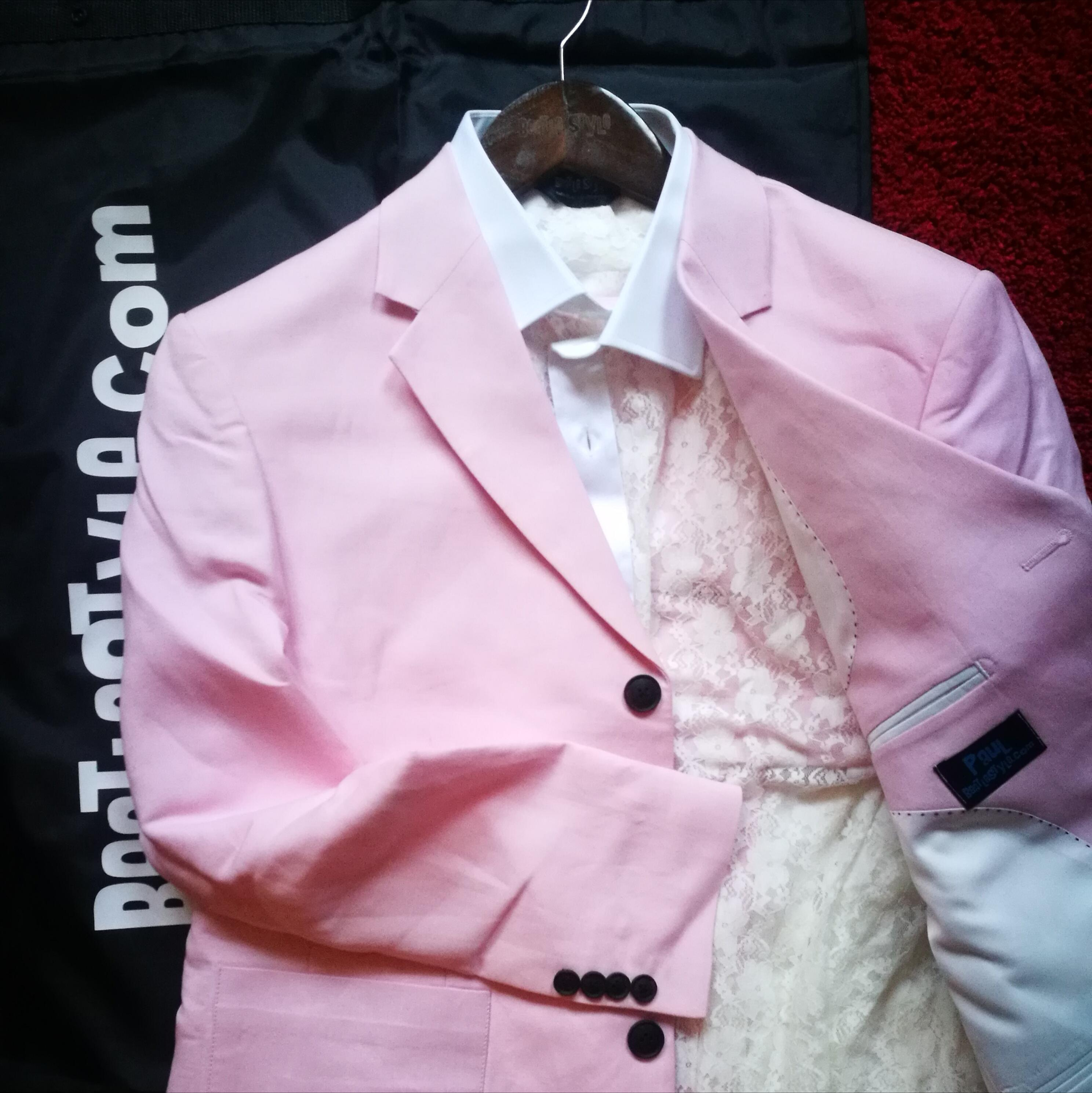 Mad day out suit pink linen