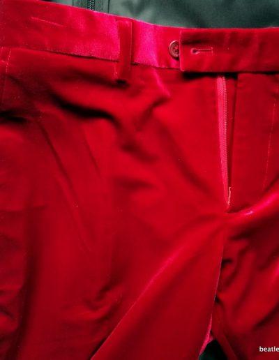 1967 Johns Red Velvet Trousers