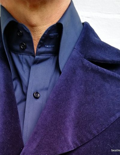 Velvet GTAT with Beagle shirt 2 button collar